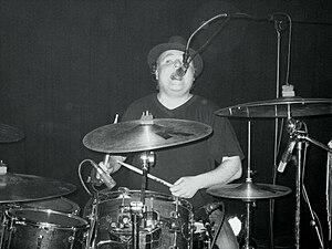 Mathew Priest - Mathew performing in his renowned black hat.