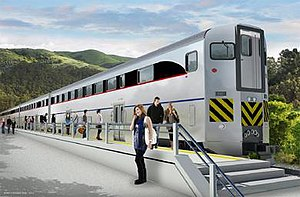 Next Generation Bi-Level Passenger Rail Car - Artist's rendering of the railcar