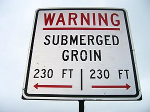 Groyne - Submerged Groin (US spelling), Hunting Island, South Carolina