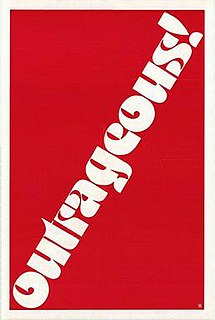 <i>Outrageous!</i> 1977 film by Richard Benner