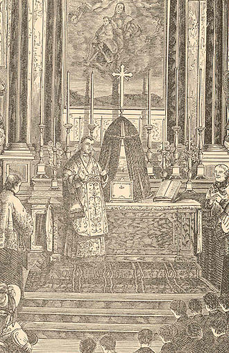 Pope Pius IX - An 1819 picture showing Mastai-Ferretti at his first Holy Mass