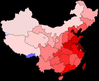 Population density in Eastern Provinces