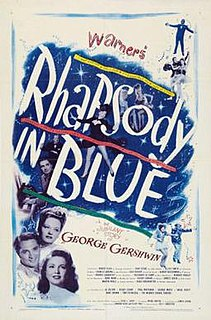 <i>Rhapsody in Blue</i> (film) 1945 film by Irving Rapper