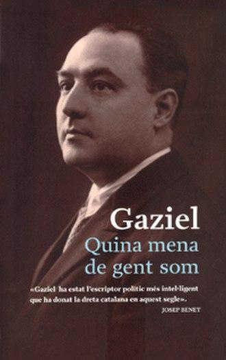 Gaziel - Book cover of Quina mena de gent som, by Gaziel