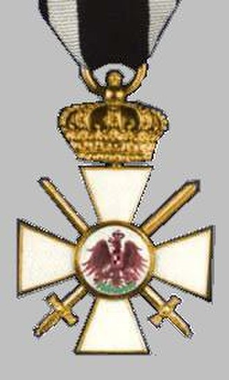 Order of the Red Eagle - Order of the Red Eagle, 3rd Class, with Crown and Swords