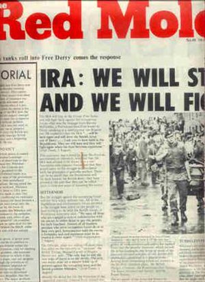 International Marxist Group - Red Mole supported the IRA's para-military campaign