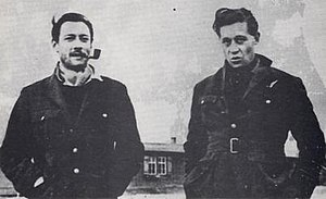 Roger Bushell - Squadron Leader Roger Bushell (right) with Wing Commander Robert Stanford Tuck.