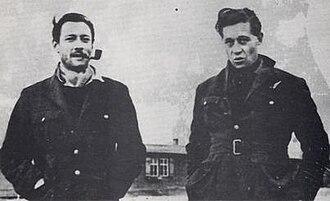 Roger Bushell - Squadron Leader Roger Bushell (right) with Wing Commander Robert Stanford Tuck.