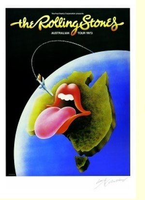 The Rolling Stones Pacific Tour 1973 - Poster from Australian portion of tour, designed by Ian McCausland.