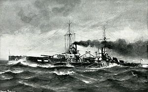 SMS Kaiser (1911) - Illustration of Kaiser underway