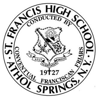 Saint Francis High School (Athol Springs, New York) - Image: Saint Francis High School (Athol Springs) seal