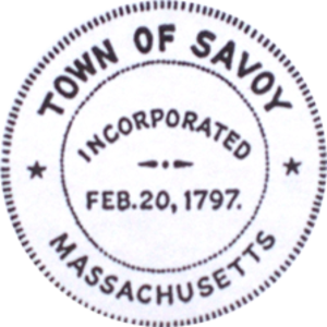 Savoy, Massachusetts - Image: Savoy MA seal
