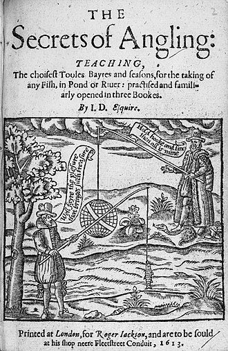 The Secrets of Angling - Title page of first edition (1613)in the Bodleian, shelfmark 8vo.D 15 Art.