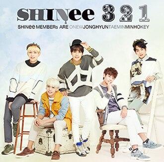 3 2 1 (Shinee song) - Image: Shinee Single 321