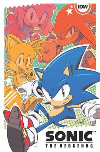 Sonic the Hedgehog (IDW Publishing) - Promotional artwork from New York Comic-Con by Tyson Hesse (2017)