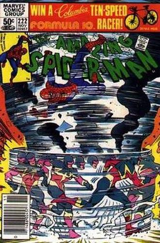 Speed Demon (comics) - Image: Spider man 222