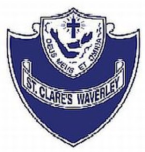 St Clare's College, Waverley - St Clare's College crest. Source: www.stclares.nsw.edu.au (St Clares website)