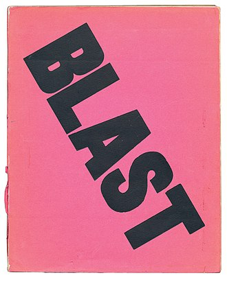Blast (magazine) - Cover of the first edition of Blast, 1914