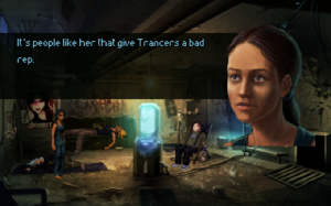 Technobabylon - Screenshot of the game, an example of its design.