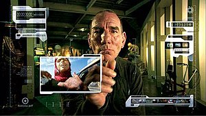 The Age of Stupid - Promotional image for the film showing Pete Postlethwaite at his archival computer.