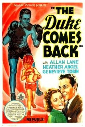 The Duke Comes Back (film) - Theatrical release poster