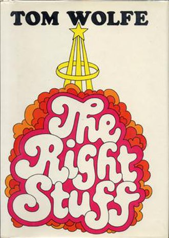 The Right Stuff (book) - First-state dust jacket, showing initial design never released in a public edition