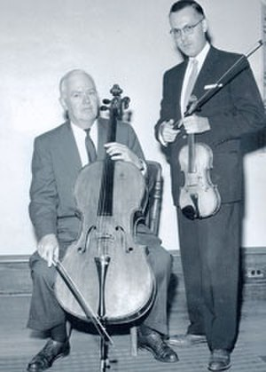 Andor Toth - Andor Toth, violin, and John Frazier, cello, at The Oberlin Conservatory, c. 1959