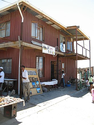 Slum tourism - Bed and breakfast inside a South African township