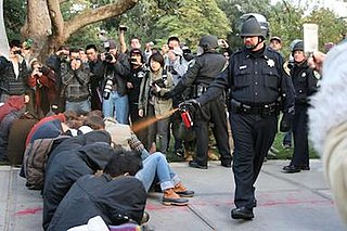 UC Davis pepper spray incident incident during an Occupy movement demonstration at the University of California, Davis