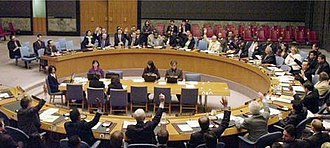 United Nations Security Council Resolution 1718 - The Security Council votes in favour of Resolution 1718