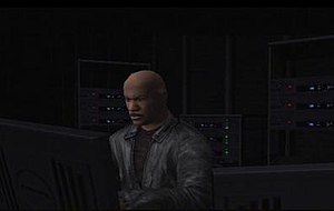 Luther Stickell - The video game version of Luther Stickell (modeled after Ving Rhames) in Mission: Impossible – Operation Surma