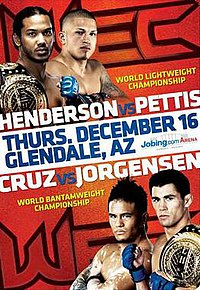 A poster or logo for WEC 53: Henderson vs. Pettis.