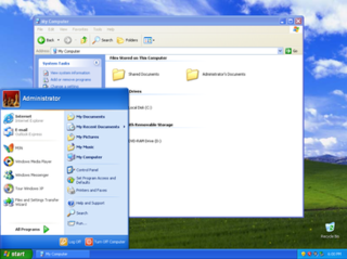 Windows XP Personal computer operating system by Microsoft released in 2001