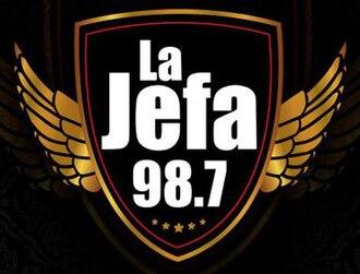 XHMQ-FM - Image: XHMQ lajefa 98.7 logo