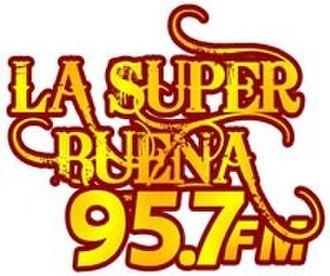 XHXO-FM - Image: XHXO La Super Buena 95.7 logo