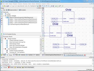 Xilinx ISE - Image: Xilinx ISE Webpack 14