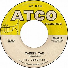 Yakety Yak by The Coasters US vinyl A-side.jpg