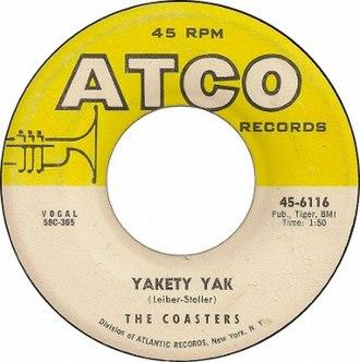 Yakety Yak - Image: Yakety Yak by The Coasters US vinyl A side