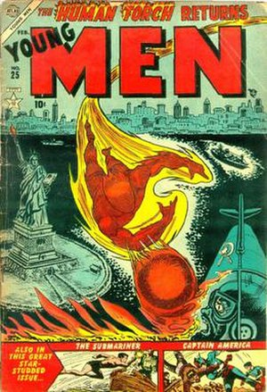 Atlas Comics (1950s) - Image: Young Men 25
