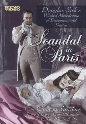 A Scandal in Paris - Vidocq admires Therese while sneaking back into the chateau after the jewel robbery.