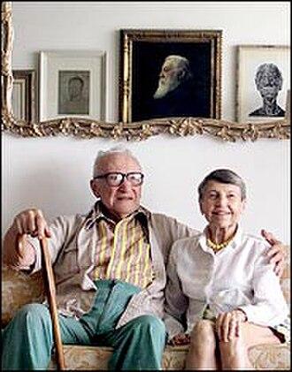 Artine Artinian - Artine Artinian and his wife, Margaret, circa 1998, at their penthouse.