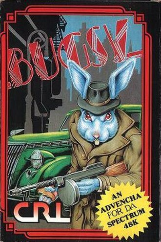 Bugsy (video game) - The European Sinclair ZX Spectrum cover for Bugsy