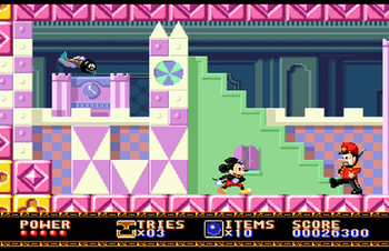 Level screenshot (Mega Drive version)