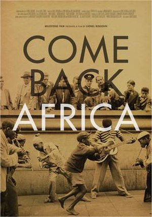Come Back, Africa - Image: Come Back Africa Film Poster