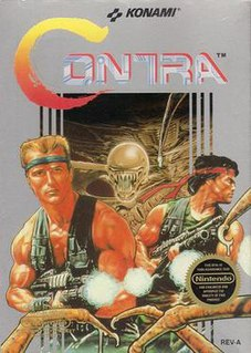 <i>Contra</i> (video game) 1987 run and gun action game