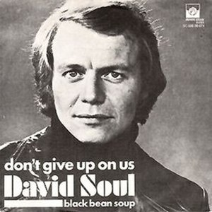 Don't Give Up on Us (song) - Image: David Soul Don't Give Up On Us single cover