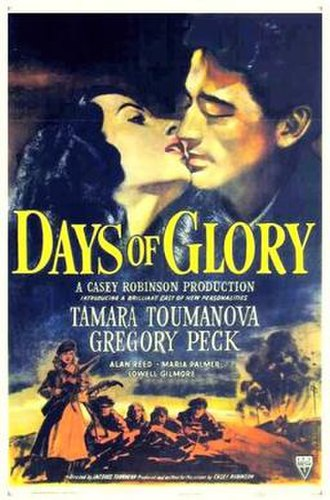 Days of Glory (1944 film) - Theatrical release poster