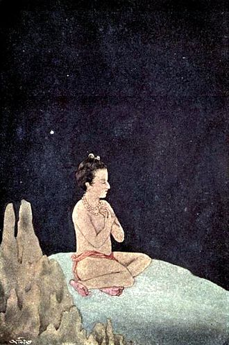 Asit Kumar Haldar - Dhruva, Painting, published in Myths of the Hindus & Buddhists (1914).
