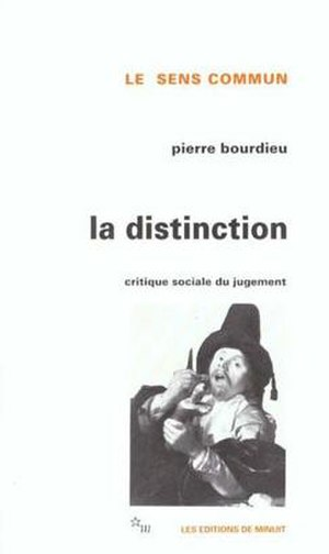 Distinction (book) - Cover of the first edition