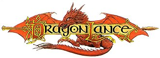 Dragonlance - The second Dragonlance logo, used on most of the books and supplements since 1995 with the 5th Age.